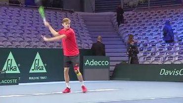 Finale de la Coupe Davis: l'avant-match David Goffin-Lucas Pouille