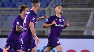 3e but de la saison pour Franck Ribéry avec la Fiorentina.