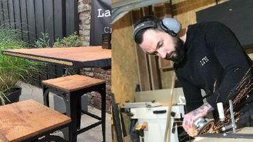 Jérémy Descamps, artisan du meuble à Courcelles