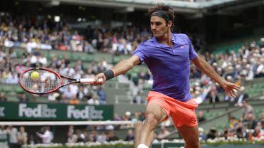 Roger Federer sur le Court Philippe Chatrier en 2015