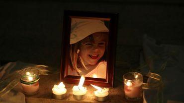 Service religieux en mémoire de la fillette britannique Madeleine McCann disparue il y a dix ans, le 3 mai 2017 à l'église de Praia da Luz dans le sud du Portugal