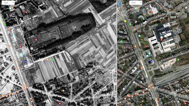 Reyers vu du ciel, en 1944 et en 2015
