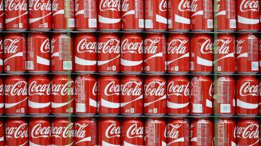 Des canettes dans l'usine Coca Cola de Salt Lake City, le 10 février 2017