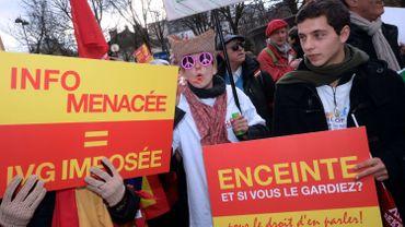 France: de 16 000 à 40 000 manifestants contre l'avortement à Paris
