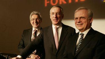Les dirigeants de Fortis en 2008: Herman Verwilst, Jean Pierre Votron et Gilbert Mittler