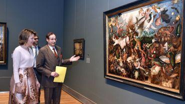 La Reine Mathilde aux Musées royaux des Beaux-Arts de Belgique le 14 avril 2016