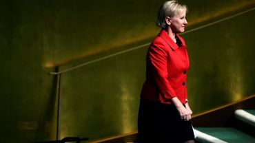 La ministre des Affaires étrangères Margot Wallström au siège de l'ONU, le 22 septembre 2017