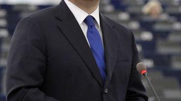 Le Premier ministre hongrois Viktor Orban au Parlement européen le 5 juillet 2011