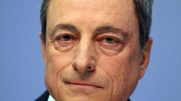 Mario Draghi, président de la BCE, le 15 avril 2015 à Francfort