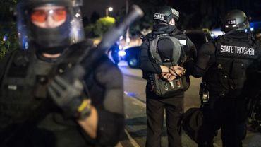 Un journaliste arrêté par la police lors d'une manifestation aux Etats-Unis