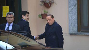 Silvio Berlusconi est arrivé à l'endroit où il doit purger sa peine