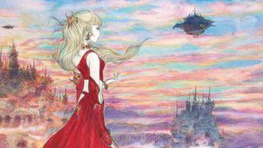 "Dessin accompagnant l'extension ""Final Fantasy XIV: Stormblood"", par l'illustrateur japonais Yoshitaka Amano"