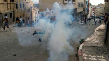 Des heurts entre manifestants et forces de l'ordre à Al-Hoceïma, au Maroc, le 8 juin 2017