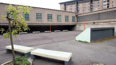 La cour de la prison de lantin