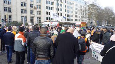 Manifestation de travailleurs sans-papiers en décembre 2019