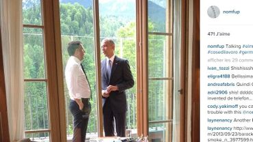 La photo prise lors du G7.