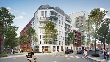 Projet de construction de cinq immeubles de logements, d'une crèche et dun parking de 171 places sur le site de Bavière