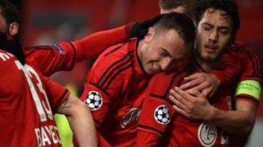 La joie des joueurs du Bayer Leverkusen