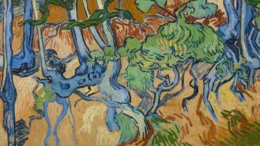 L'oeuvre Racines est la dernière oeuvre produite par Van Gogh, le jour même de son décès, quelques heures avant de se donner la mort