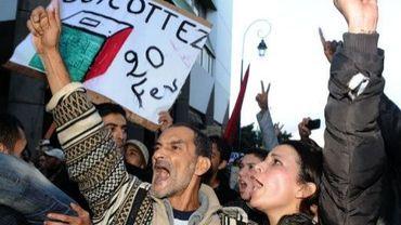 Des Marocains manifestent à Casablanca le 20 novembre 2011 pour appeler au boycott des élections législatives