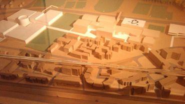 Maquette  projet centre sportif de haut niveau à Louvain-la-Neuve