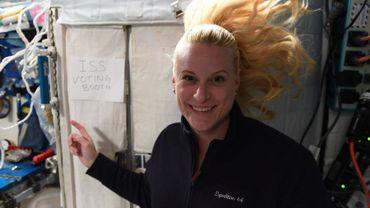 Kate Rubins, membre américaine de l'équipage ISS, a voté ce 22 octobre 2020... depuis l'espace