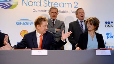 Signature de l'accord sur le Nord Stream 2, le 24 avril 2017