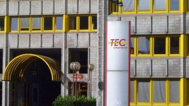 Le bâtiment des TEC à Charleroi