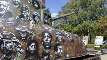 Le char Sherman décoré