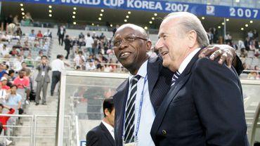 Jack Warner en compagnie de Sepp Blatter