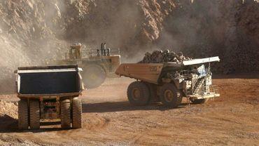 Une mine de cuivre dans la région d'Antofagasta au Chili, en mars 2006