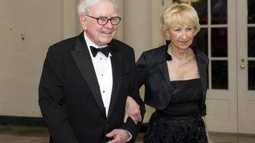 Warren Buffett et son épouse Astrid