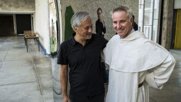 L'artiste britannique Anish Kapoor et le frère Marc Chauveau, historien en art
