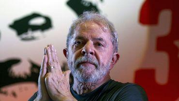 L'ex-président Luiz Inacio Lula da Silva, le 22 février 2018 à Sao Paulo