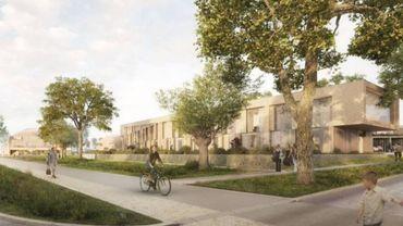 L'une des esquisses du futur projet I-Dyle, à Genappe.