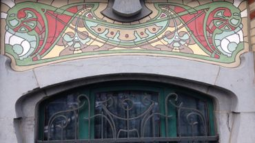 Un sgraffite restauré à Tournai
