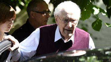 """Oskar Gröning, dit le """"comptable d'Auschwitz"""", le 15 juillet 2015 à Lueneburg, dans le nord de l'Allemagne"""