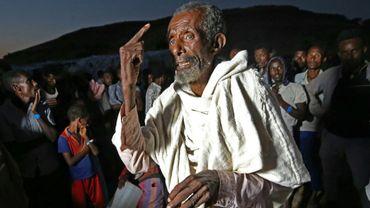 Des réfugiés chassés par les combats dans la région éthiopienne du Tigré, dans le camp d'Oum Raquba, dans l'Est du Soudan, le 19 novembre 2020