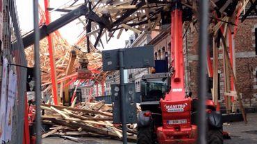 Le démontage de la structure a commencé ce samedi matin.
