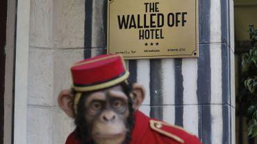 L'entrée du Walled Off hotel
