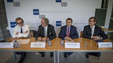 ULB: Peter de Caluwe et Paul Dujardin docteurs honoris causa