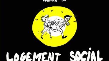 """Couverture de la bande dessinée """"Panique au Logement Social""""."""
