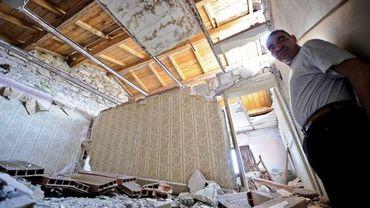Les dégâts du tremblement de terre de L'Aquila