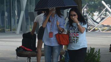 Plus de neuf humains sur dix respirent un air ambiant trop pollué, comme ici à Singapour.