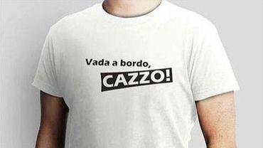 """""""Vada a bordo, cazzo!"""", le dernier T-shirt à la mode sur le net en Italie..."""