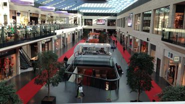 L'intérieur du centre commercial K in Kortrijk