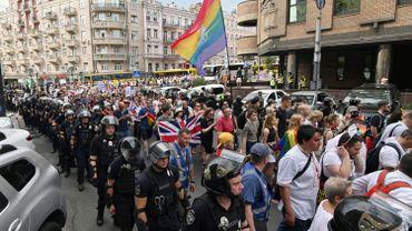 Gay-pride à Kiev, défilé sous protection policière