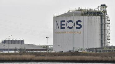 Action de militants climatiques sur un site de l'entreprise pétrochimique Ineos à Anvers