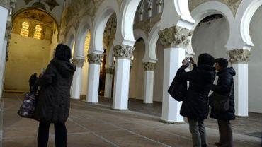 Dans une synagogue à Tolède