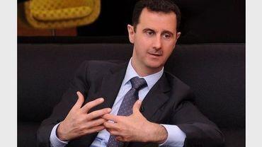 Le président syrien Bachar al-Assad, le 3 juillet 2012 à Damas